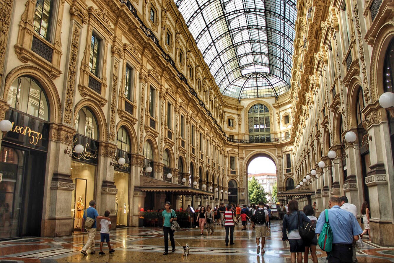 milan galleria city guide oeilhelene